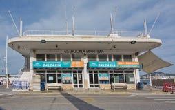 Bâtiment de port d'Ibiza Images libres de droits