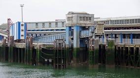 Bâtiment de port dans Boulogne sur Mer Images stock