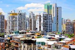 Bâtiment de résidence de Macao et paysage urbain, Macao, Chine image stock
