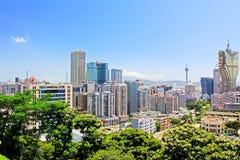 Bâtiment de résidence de Macao et paysage urbain, Macao, Chine photographie stock
