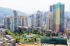 Bâtiment de résidence de Macao et paysage urbain, Macao, Chine images libres de droits