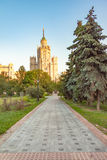 Bâtiment de remblai de Kotelnicheskaya, un de sept gratte-ciel stalinist à Moscou image libre de droits