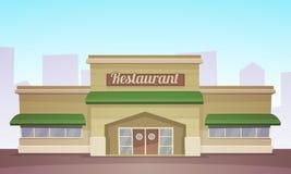 Bâtiment de restaurant Photographie stock libre de droits