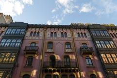 Bâtiment de rose de Bilbao photo libre de droits