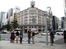 Bâtiment de Seiko dans Ginza, Tokyo, Japon. photos libres de droits