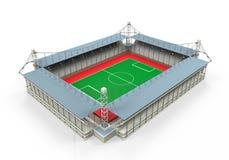 Bâtiment de stade d'isolement Image stock