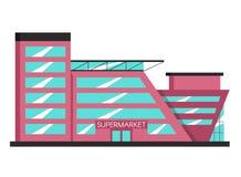 Bâtiment de supermarché Illustration plate de vecteur Style de constructivisme illustration de vecteur