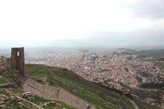 Acropole de Pergamon en Turquie Photographie stock libre de droits