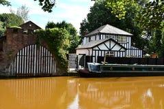 Bâtiment de Tudor chez Worsley, Manchester photo libre de droits