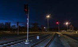 Bâtiment de vieille station dans la ville de Ceska Lipa Photos stock