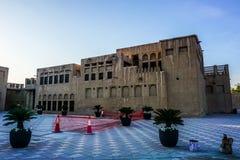 Bâtiment de village d'héritage de Dubaï images stock