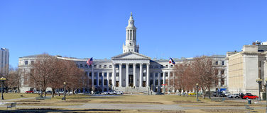 Bâtiment de ville et de comté, Denver, le Colorado images libres de droits