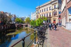 Bâtiment de Winkel van Sinkel à Utrecht, Pays-Bas Photographie stock libre de droits