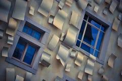 Bâtiment drôle au centre de Dresde Image libre de droits