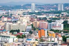 Bâtiment du centre d'affaires serré à Pattaya Photo stock