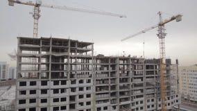 Bâtiment du bâtiment en hiver clips vidéos