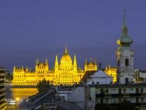 Bâtiment du Parlement, Budapest, Hongrie Photos stock