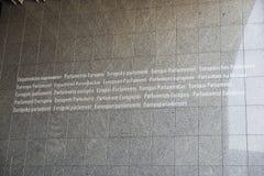 Bâtiment du Parlement européen à Bruxelles, Belgique photographie stock