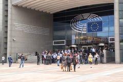 Bâtiment du Parlement européen Image libre de droits