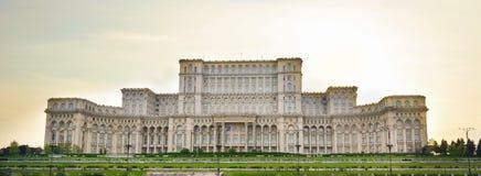 Bâtiment du Parlement roumain à Bucarest Roumanie images libres de droits