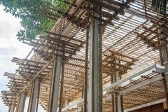 Bâtiment en bambou en construction Image stock