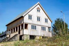 Bâtiment en bois 1 au fort de Høytorp images libres de droits