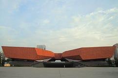 Bâtiment en V du musée de révolution de Wuhan Xinhai Image stock