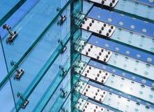 Bâtiment en verre moderne de façade de détail d'architecture photographie stock libre de droits