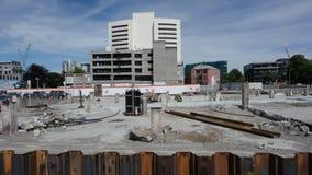 Bâtiment endommagé à Christchurch Nouvelle-Zélande banque de vidéos