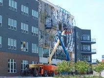 Bâtiment et Art Under Construction Images stock
