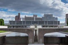Bâtiment et musée commémoratifs de paix d'Hiroshima photographie stock libre de droits