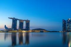 Bâtiment financier de paysage urbain de Singapour Photos stock