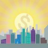Bâtiment financier de secteur de ville Photographie stock