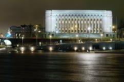 Bâtiment finlandais du parlement la nuit photo libre de droits