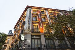 Bâtiment fleuri historique, Madrid, Espagne image libre de droits