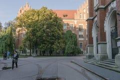 Bâtiment historique à Cracovie Images libres de droits