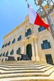 Bâtiment historique à La Valette, Malte. Image libre de droits
