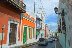 Bâtiment historique à vieux San Juan, Porto Rico Photographie stock libre de droits