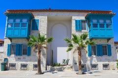 Bâtiment historique dans Alacati, Izmir, Turquie Photos libres de droits