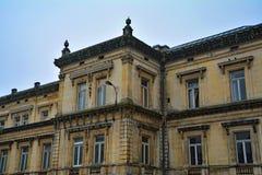 Bâtiment historique dans la station thermale de village, Belgique Images stock
