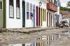 Bâtiment historique de Paraty en Rio de Janeiro Brazil photos libres de droits