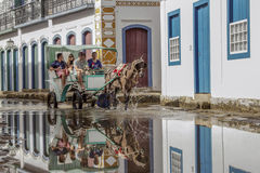 Bâtiment historique de Paraty en Rio de Janeiro Brazil image stock