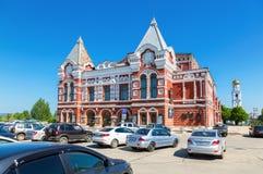 Bâtiment historique de théâtre de drame dans le jour ensoleillé d'été en Samara image libre de droits