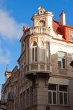 Bâtiment historique fleuri à Vilnius images libres de droits