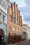 Bâtiment historique fleuri à Vilnius photo stock