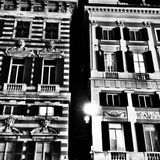 Bâtiment historique noir et blanc Image libre de droits