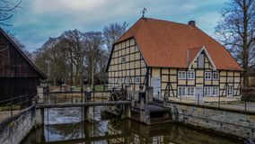 Bâtiment historique près du ¼ CK, tersloh de ¼ de Kreis GÃ, Nordrhein-Westfalen, Deutschland/Allemagne de Schloss Rheda - de Rhed Images stock