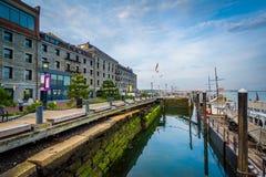 Bâtiment historique sur le bord de mer dans North End de Boston, Images stock