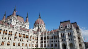 Bâtiment hongrois du Parlement images stock