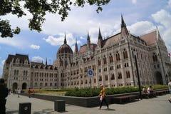 Bâtiment hongrois du Parlement photo stock